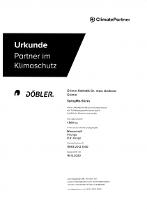 Urkunde Partner Klimaschutz Dr. Grimm